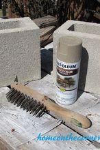 springtime concrete painted planter, concrete masonry, container gardening, crafts, gardening