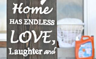 diy wooden sign for laundry room tutorial, crafts, how to, laundry rooms, wall decor, woodworking projects