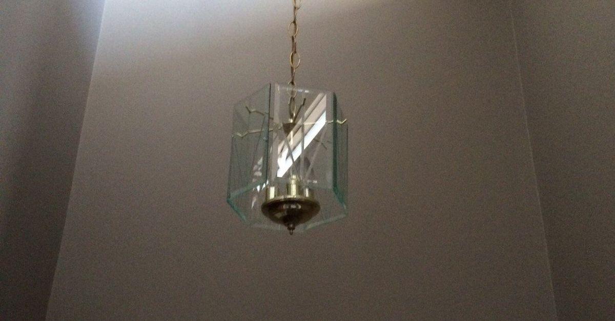 Diy Foyer Lighting : Diy upcycled entry pendant light hometalk