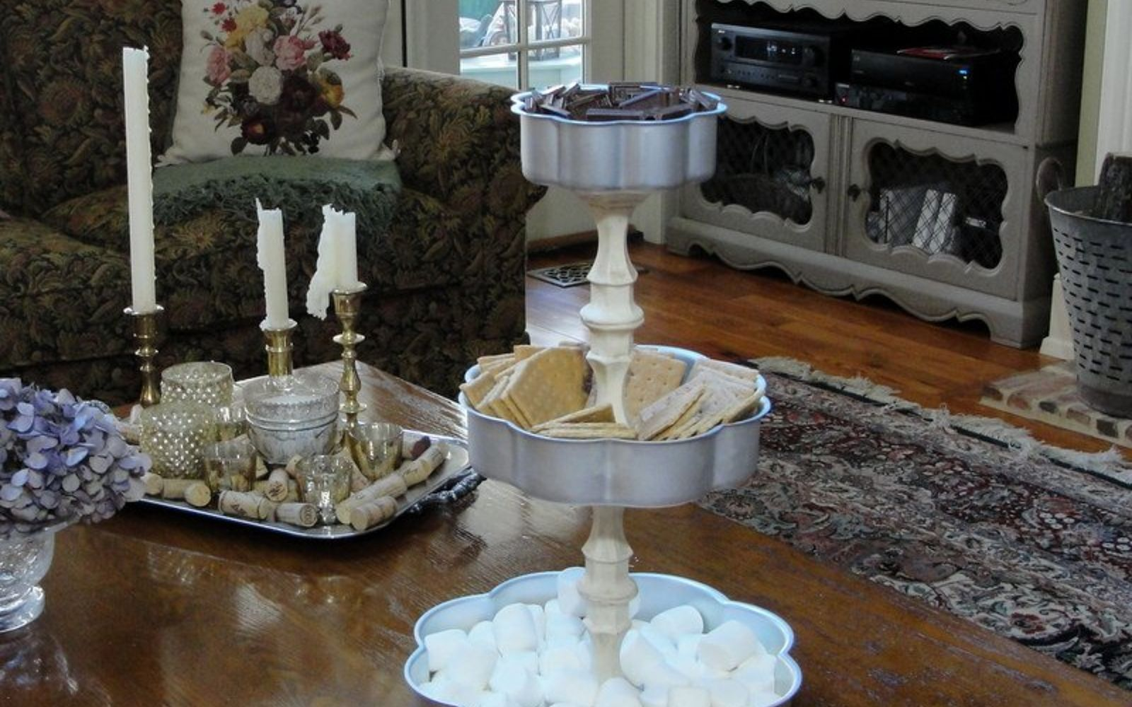 s 14 hidden home decor gems you can find in any dollar store, home decor, repurposing upcycling, Glass candlesticks are great for tiered trays