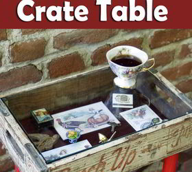 Diy Shadowbox Crate Table, Diy, How To, Painted Furniture, Repurposing  Upcycling