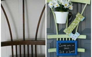 trash to treasure spring front door decor, doors, repurposing upcycling