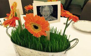 wheat grass centerpieces in 6 days, container gardening, crafts, flowers, gardening, how to