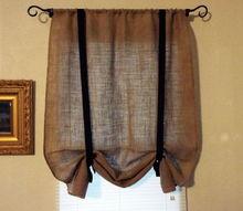 burlap rollup blinds, reupholster, window treatments, windows