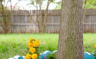 diy tree border garden, gardening, outdoor living