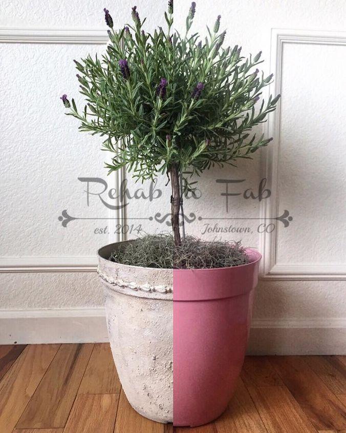 Pink Garden Planters: Plastic Pink Flower Pot Gets A Face Lift
