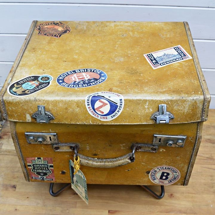 Transform a Vintage Suitcase Into Side Table With Character | Hometalk
