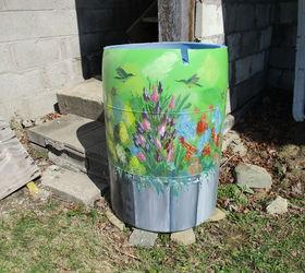 Re Purposed 55 Gallon Vinegar Barrel; Now Rain Water Collector | Hometalk