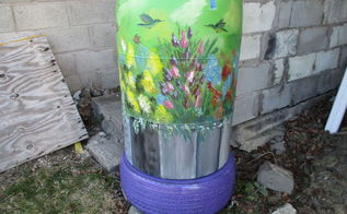 re purposed 55 gallon vinegar barrel now rain water collector, gardening, go green, homesteading