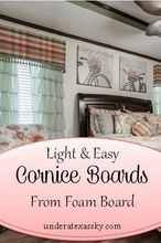easy and light cornice boards from foam board, how to, window treatments, windows