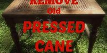 how to remove pressed cane, diy, how to, painted furniture
