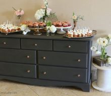 curbside dresser into an elegant dessert buffet, painted furniture