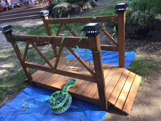 DIY Wood Garden Bridge | Hometalk