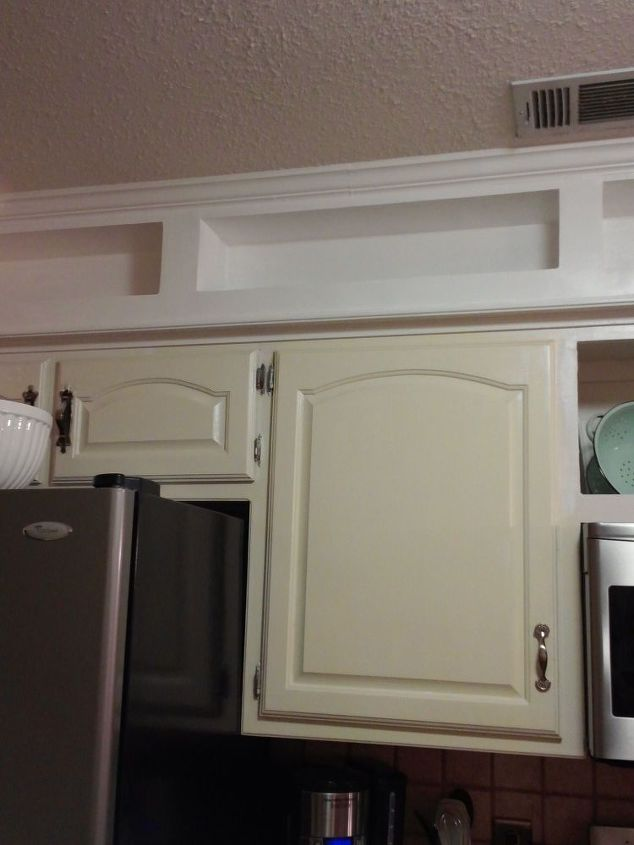 From Outdated Soffits To Usable Space Kitchen Cabinets Kitchen Design Shelving Ideas