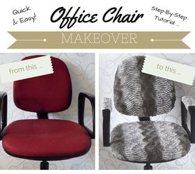 DIY Office Chair Makeover The Quick Easy Way Hometalk
