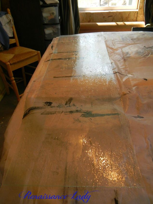 How does one project lead to another using unicorn spit for Painting over lead paint on furniture