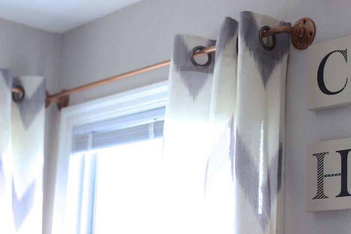 Diy Copper Curtain Rods That Wont Break The Bank Hometalk