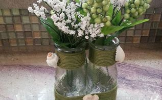 coastal twine vase, crafts, how to
