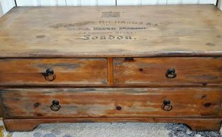 cedar chest turned vintage gun cabinet , painted furniture, woodworking projects