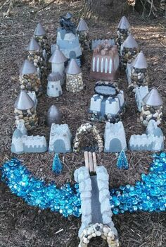 minature garden castle, crafts, gardening