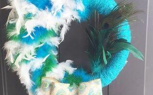 peacocok wreath, crafts, wreaths