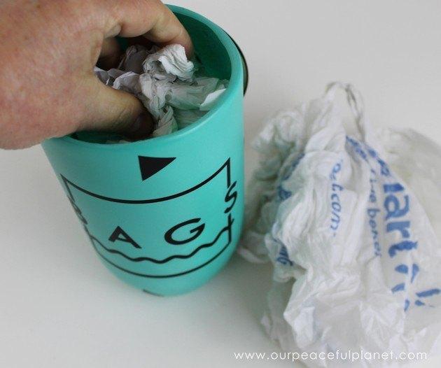Plastic bag dispenser from a soda bottle cd hometalk for Plastic soda bottle crafts