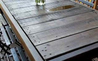 diy pallet table 13 easy outdoor diy projects upcycles, diy, outdoor furniture, outdoor living, pallet, woodworking projects