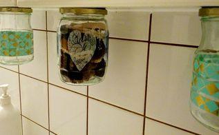 diy hanging storage jars, mason jars, storage ideas