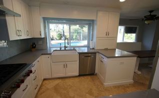 kitchen remodel with white cabinets, home improvement, kitchen cabinets, kitchen design