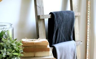 make a diy blanket ladder in a weekend, diy, living room ideas, woodworking projects