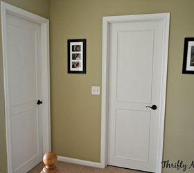 hollow core bore to a beautiful updated door diy slab door makeover doors ... & Ugly Slab Door Transformed With a Mid Century Modern Feel | Hometalk Pezcame.Com