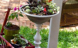 light fixture broken fan to a planter, container gardening, gardening, repurposing upcycling