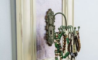 carousel jewelry organizer, chalk paint, crafts, decoupage, how to, organizing, repurposing upcycling
