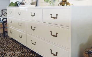 painted henredon dresser, painted furniture
