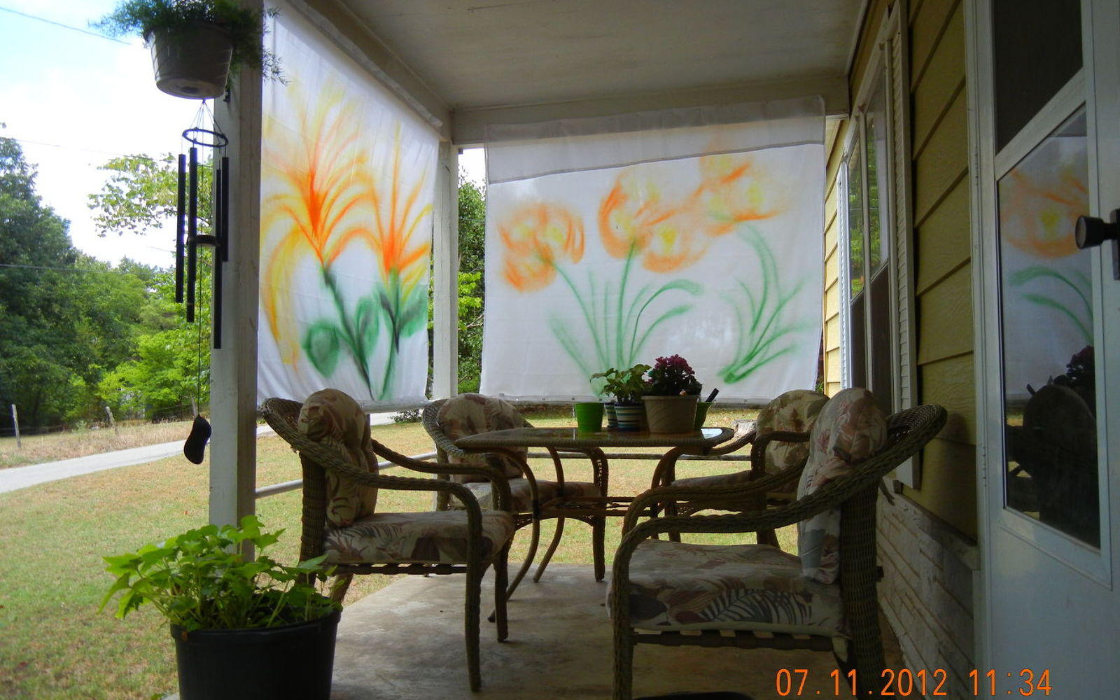 Porch curtain ideas