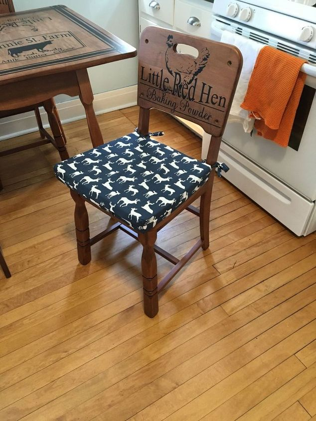 Refinished Kitchen Table Chairs With Beautiful Stenciling Chalk Paint Design Painted Furniture
