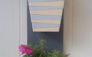 small hanging planter , container gardening, gardening, repurposing upcycling, wall decor