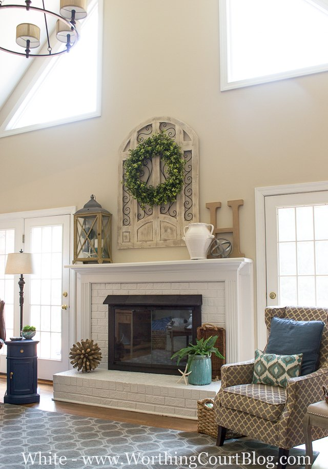 Living Room Paint Color Ideas With Brown Furniture Brick Fireplaces
