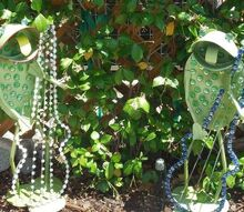 frogs strumming guitar up cycle, crafts, outdoor living