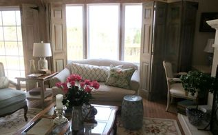 adding faux beams and some spring to the living room, home decor, living room ideas