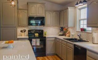 updated kitchen cabinets in gray, kitchen cabinets, kitchen design, painting