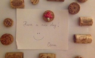 cork magnets, repurposing upcycling, wall decor