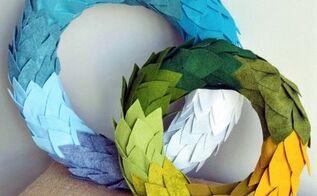 felt wreath tutorial, crafts, how to, wreaths