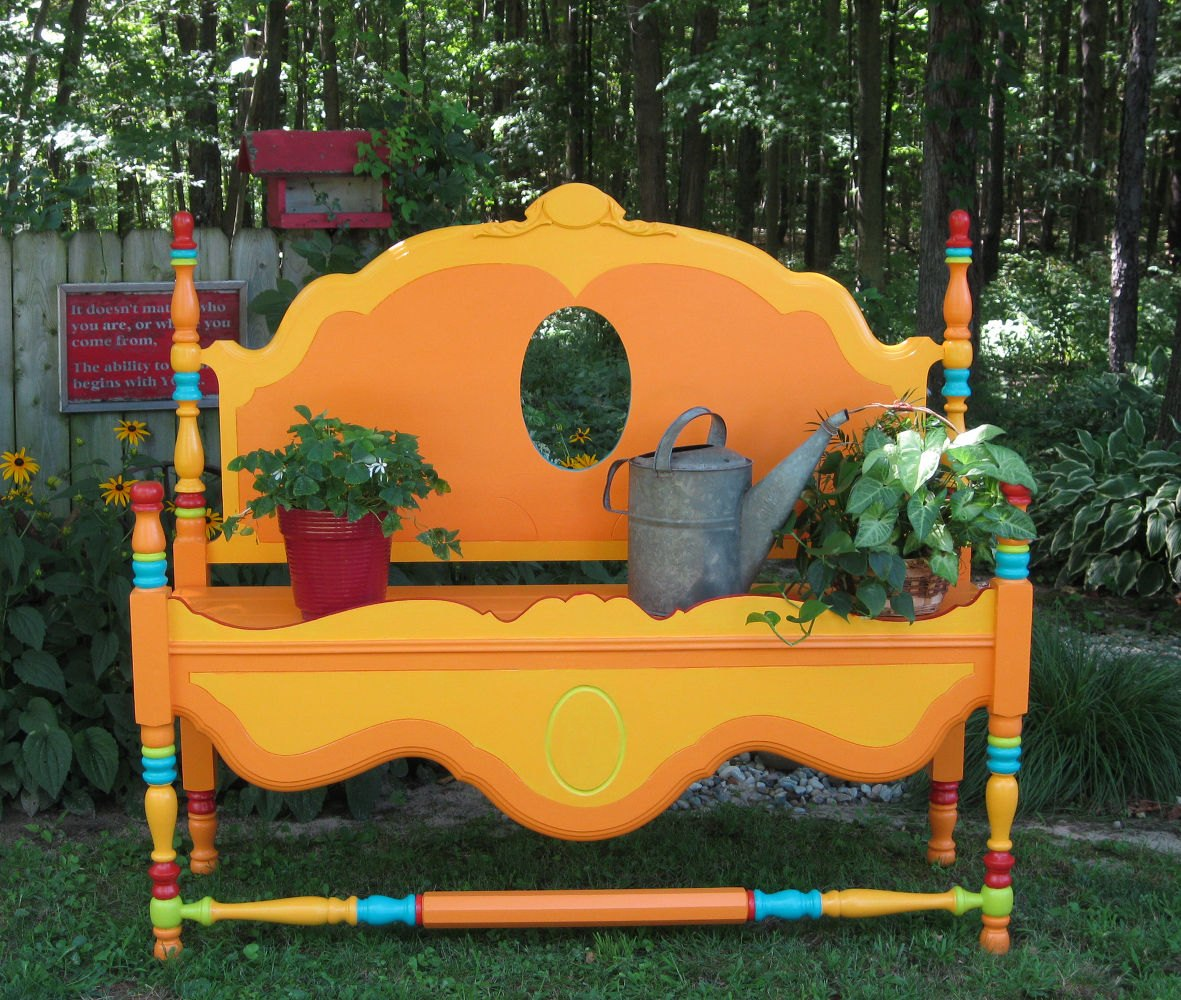 15 whimsical ways to use old furniture in your flower bed hometalk - Great ways of repurposing home furniture ...