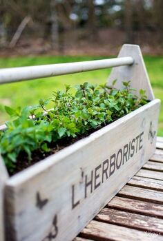 l herboriste planter, chalk paint, container gardening, gardening, painted furniture, repurposing upcycling