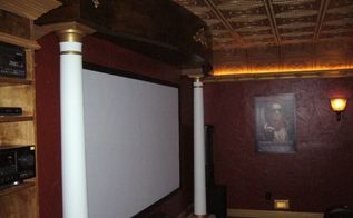 home theater remodel before during and after, diy, entertainment rec rooms, home improvement, painting, tiling