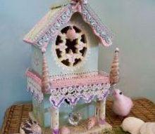 victorian cape may birdhouse diy redo, crafts