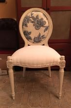 free bombay accent chair makeover, chalk paint, painted furniture, reupholster