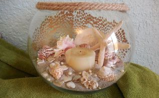 sea shell centerpiece, crafts