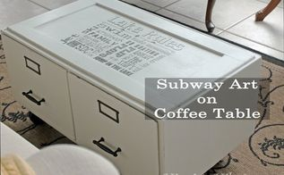 coffee table subway art, how to, painted furniture, shabby chic